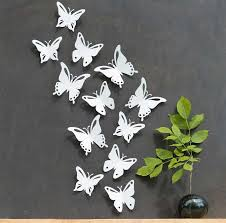 white metal butterfly wall art ideas home interior u0026 exterior