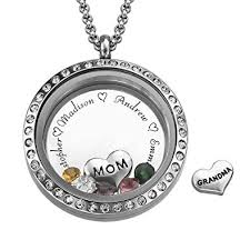 personalized locket necklace my name necklace floating charms engraved locket for