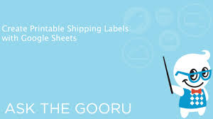 Fedex Label Template Word Create Printable Shipping Labels With Google Sheets Youtube