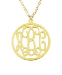 Monogram Necklaces Monogram Necklaces Sterling Silver Gold Monogram Initial Necklace