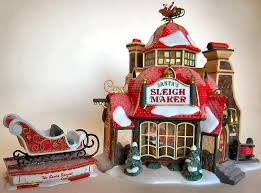 santa s sleigh maker new department dept 56 pole