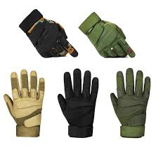 Leather Tactical Shooting Gloves Police Army Gloves Military Army