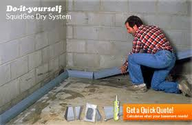 Interior Basement Drainage System Do It Yourself Basement Waterproofing Squidgee Dry System New