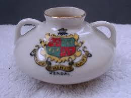 arcadian china vintage model of an ancient cauldron crested kendal by