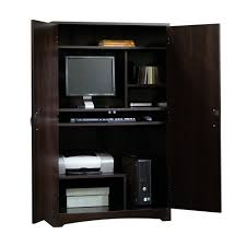 Computer Corner Armoire by Furniture Classy Corner Espresso Computer Armoire Plus Shelve And