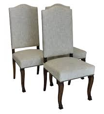 furniture high back upholstered chair pair of dining room chairs