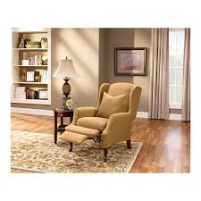 sure fit slipcovers wing chair sure fit stretch pique wing chair recliner slipcover walmart com