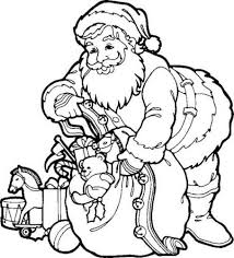 santa claus coloring embroidery woodburning