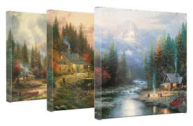 end of a day set of 3 wrapped canvases 14 x 14