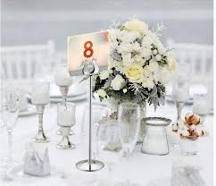 silver frames for wedding table numbers table number holder gold silver wedding table card holders u shape