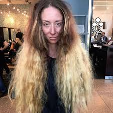 haircuts for women with long hair woman gets dramatic hair makeover before wedding popsugar beauty