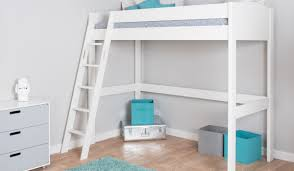 White High Sleeper Bed Frame Mi Zone High Sleeper Bed H1 Bensons For Beds