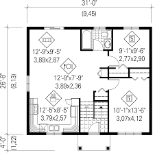 Colonial Floor Plan Colonial Style House Plan 2 Beds 1 00 Baths 827 Sq Ft Plan 25 4367