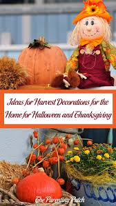ideas for harvest decorations for the home for halloween and