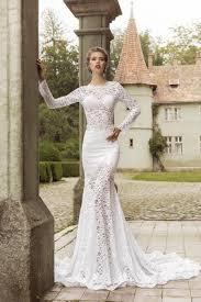 lace mermaid wedding dress sleeve o neck lace trumpet mermaid wedding dress ace0001