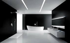 floor design black and white bathroom with relaxing interior lighting traba homes