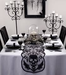 Table Runners For Dining Room Table by Decoration Awesome Halloween Dining Room White Fabric Table