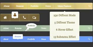 horizontal menu bar css