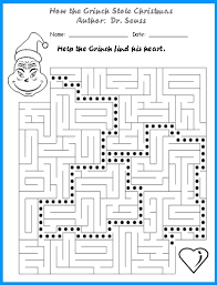ideas collection grinch math worksheets with download resume
