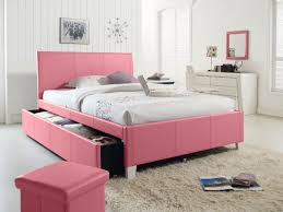 Bedroom Furniture With Storage Underneath Pretty Cool Modern Ikea Bed Style Design Using Pinky Leather