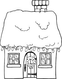 xmas coloring santa house gif 660 845 stuff interest
