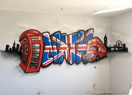 tag pour chambre prénom graffiti nath sur le thème de londres pour la chambre de
