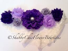Shabby Chic Purple by Purple Flower Belt Sash Shabby Chic Pearl By Shabbyflowerbowtique
