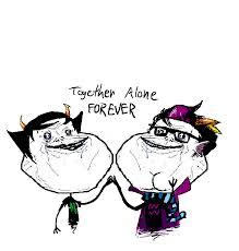 Together Alone Meme - mspa booru anonymous artist crying eridan ora fistbump forever