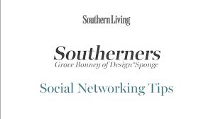 grace bonney of design sponge on social networking southern living