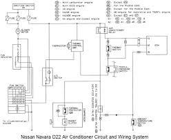 nissan navara d22 air conditioner circuit and wiring system diagram jpg