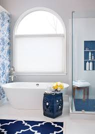 room envy a bold wallpaper adds glam to this kennesaw bathroom