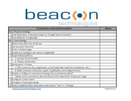basic google analytics setup checklist a pdf document u2013 beacon blog