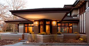 frank lloyd wright style homes for sale river forest residence b front cantilever prairiearchitect