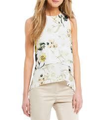 sleeveless ruffle blouse ruffles s casual dressy tops blouses dillards com