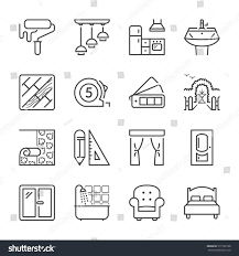 home decoration furniture thin line icon stock vector 515182108