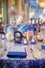 blue centerpieces wedding blue centerpieces