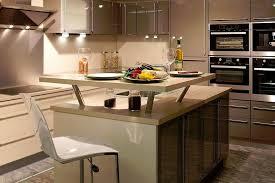 cuisine avec bar comptoir cuisine avec îlot central avec décroché type comptoir cuisine