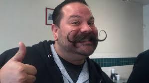 Creepy Mustache Meme - a wild mustache appeared ran into this dapper gentleman at