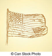 vector clipart of patriotic vote sketch doodle style vote in the