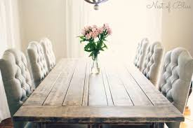 dining chairs for farmhouse table a rustic farmhouse table paired with beautiful tufted dining chairs