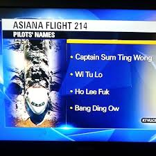 Sum Ting Wong Meme - asiana pilot names revealed captain sum ting wong wi tu lo ho lee