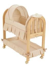 bedroom wooden rocking baby cradle eddie bauer rocking bassinet
