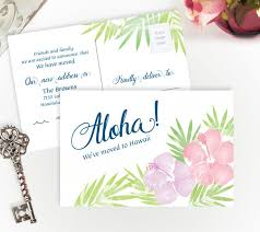 we ve moved to hawaii cards personalized moving cards