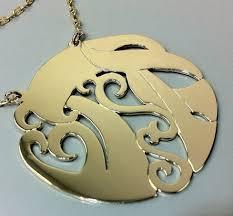 monogram jewlery hebrew monogram jewelry