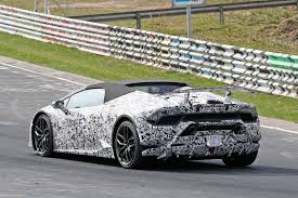 lamborghini factory papped lamborghini huracan performante spyder spotted testing by