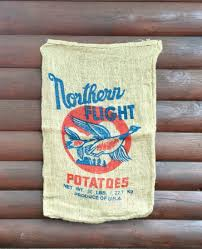 vintage burlap potato sack northern flight usa product wild