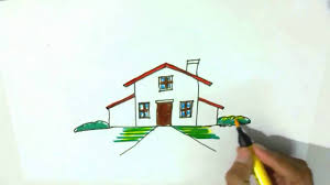 how to draw a house in easy steps for children kids step by
