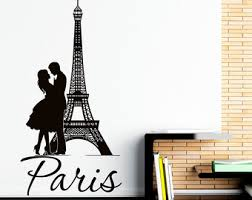 Eiffel Tower Room Decor Paris Eiffel Tower Vinyl Wall Decal Paris Theme Bedroom