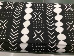 black and white mud cloth print upholstery fabric sold per