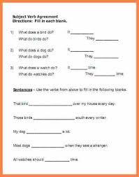 7 subject verb agreement worksheet 1st grade purchase agreement